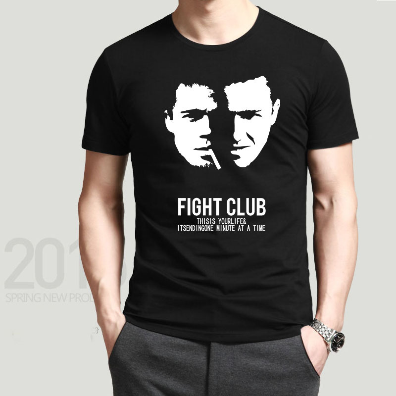 Personalized fight club Men T Shirts Cool Logo Printing