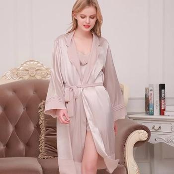 41110393d593 Women's Short Silk Kimono Robe - Luxury Bathrobe Gifts For Her - Buy ...