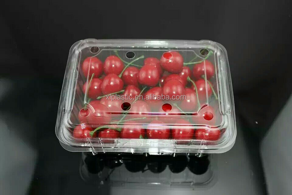 Fresh fruit and vegetables plastic boxes plastic food tray