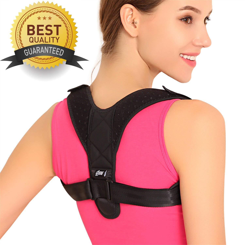0db97adc59e59 Get Quotations · AVENG Posture Corrector for Women Men - Neck Pain Relief  Upper Back Brace Shoulder Posture Corrector