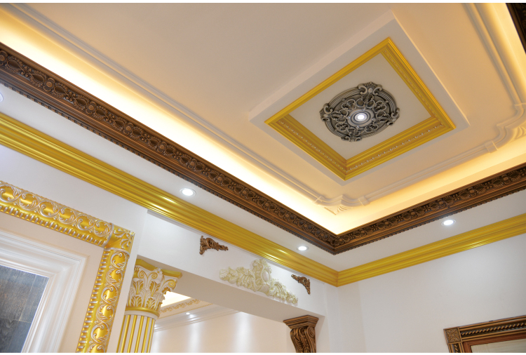 Factory price pu foam polyurethane ceiling molding for Advanced molding and decoration