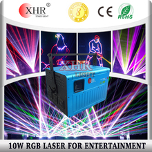 Rgb laser 12W dj lights dmx+ilda+sd+ multi color 10w rgb laser