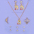Wholesale Luxury Women Wedding Gold Plated Necklace Earrings Fashion Jewelry Set