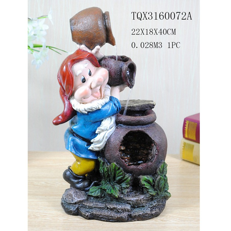 Small size home decoration resin rock water fountain