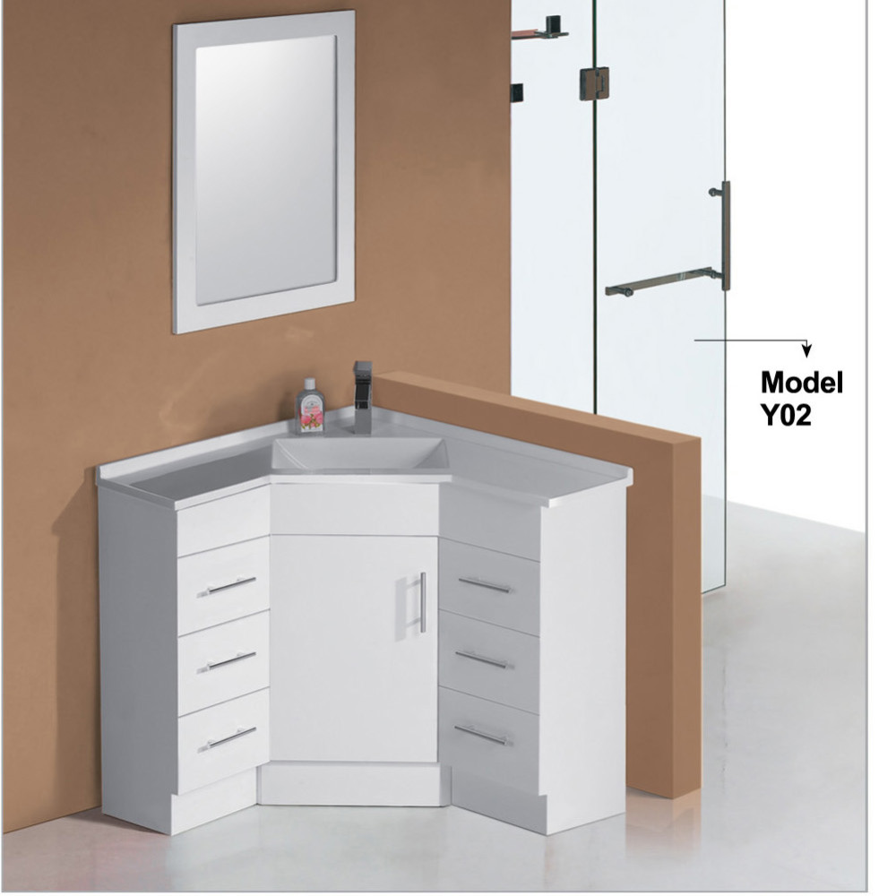 White Lacquer Modern Discount Bathroom Corner Furniture,Corner Bathroom  Vanity Units - Buy Bathroom Corner Furniture,Corner Bathroom Vanity