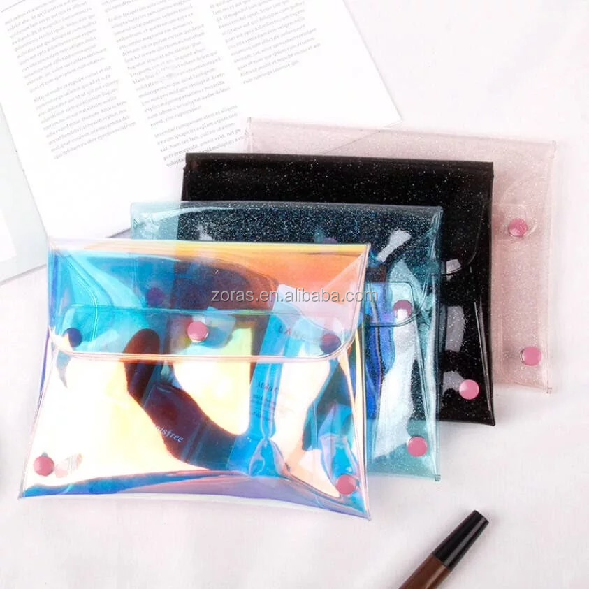 Customized By Manufacturers Handbag Style And Pvc Material Fashion Pvc Holographic Pu Handbag