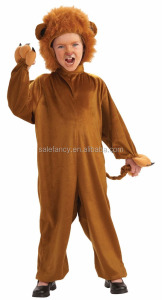 Sexy cool feature style Kids Lion halloween Costume large QBC-9215