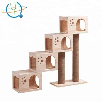 Diy Cat Scratching Post Wood Design Cube Cat Tree With Good Quality Buy Diy Cat Scratching Post Diy Cat Tree Diy Scratching Post Product On