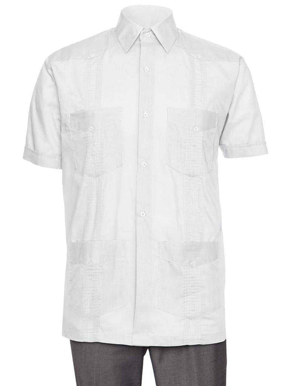 d15deae3 Get Quotations · Gentlemens Collection Short Sleeve Guayabera Shirt - for Men  Cuban Linen Look