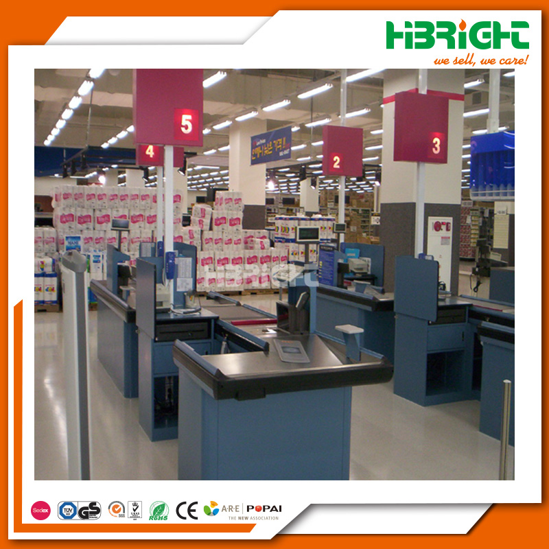 Highbright supermarket cashier counter designs