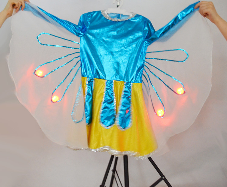 Beautiful led light girl party wear western dress girls holiday prom dresses