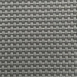 2*1 Weave Dark Grey pvc coated Textilen mesh fabric