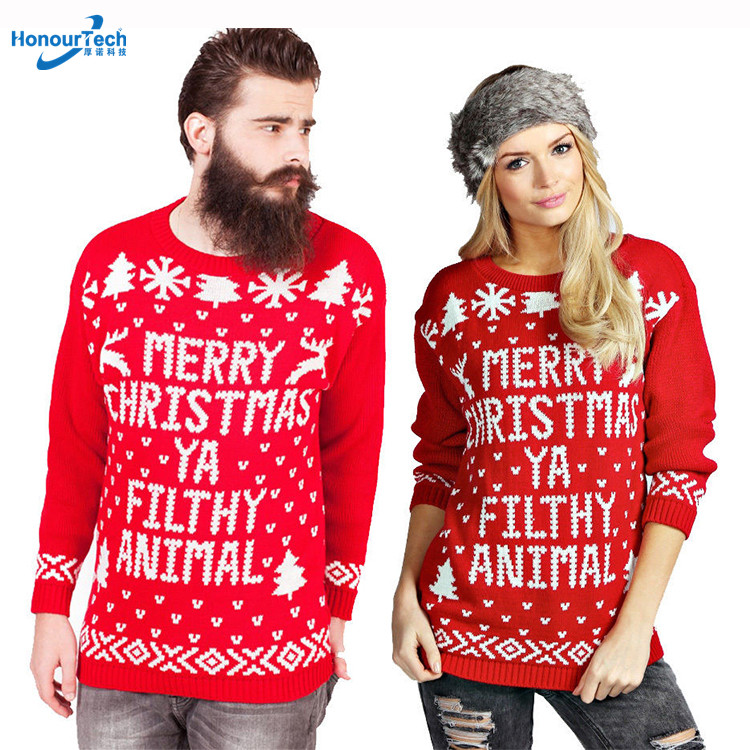 Merry Christmas Ya Filthy Animal Jumper Festive Knitwear FREE DELIVERY