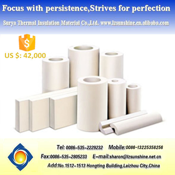 Calcium Silicate Pipe Cover : Light weight low thermal conductivity calcium silicate