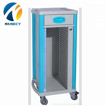 AC-RT023 hospital equipments from china supplier steel plastic medical chart trolley price