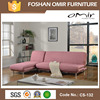 Italian Living Room PU Leather Chester Convertible Java Sofa Bed CS-132