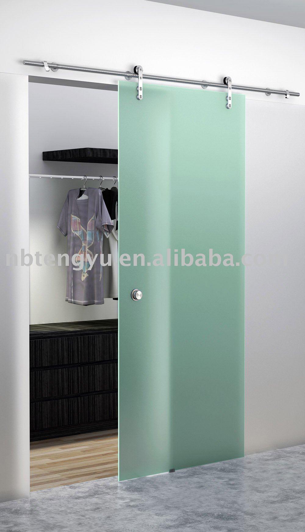 Armoire porte coulissante en verre portes id de produit for Porte coulissante en verre pour salle de bain