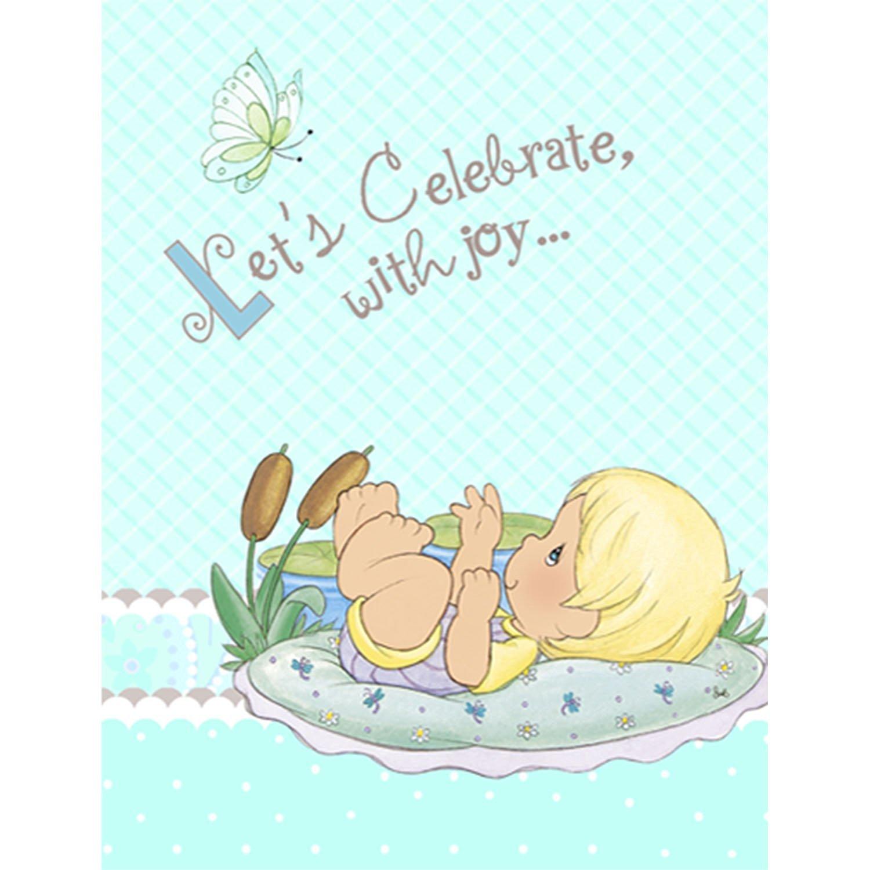 Buy Precious Moments Baby Shower Invitations - Baby Boy Baby Shower ...