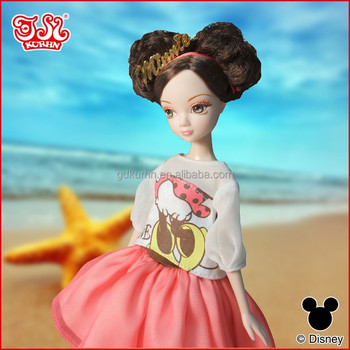 Disney fashion doll with casual doll dress