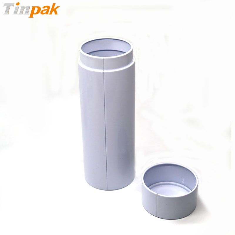 Customized printed empty round metal container with airtight lids