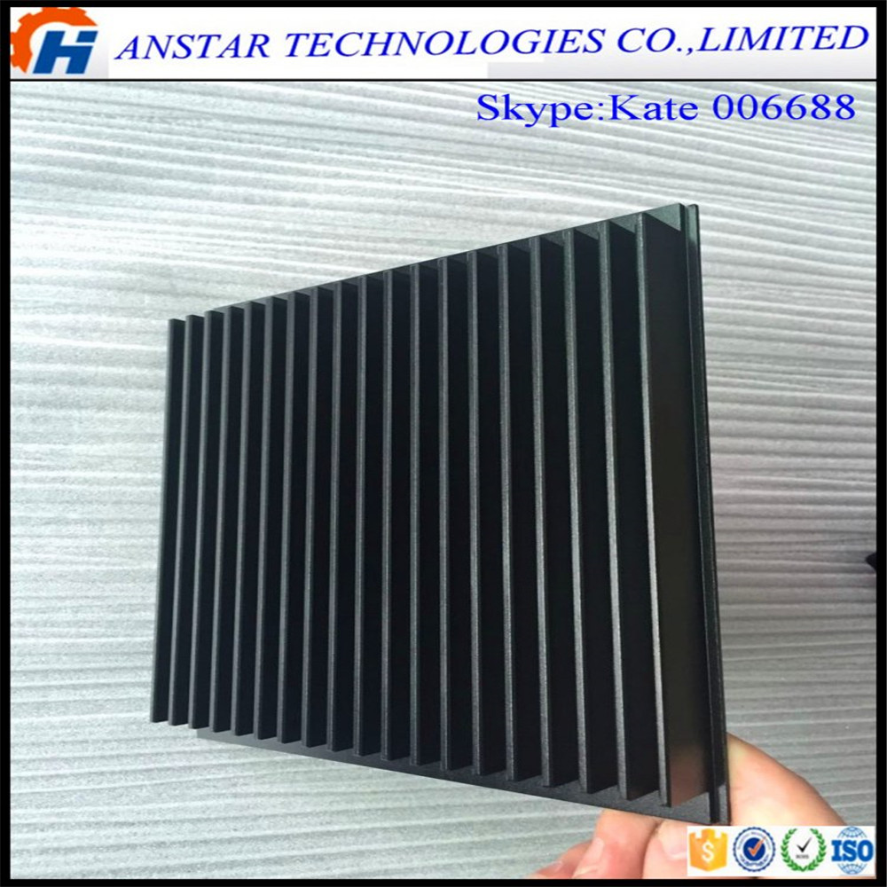 Black Anodized Aluminium Heat Sink Profiles , Extruded Aluminum Radiators,Profile mould
