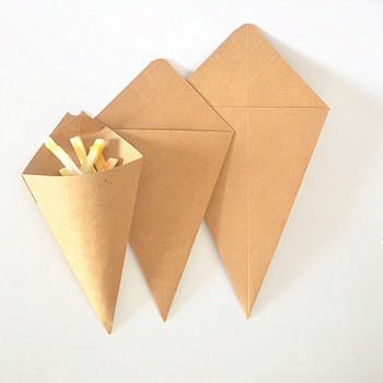 Disposable french fries paper packaging box french fries Paper cone