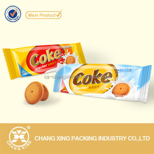 Custom printed patato chips cookie biscuit candy snack plastic food packaging bags