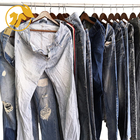 Bundle clothing used sort second hand clothes of MEN JEAN PANT in uk