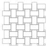 Custom Dedign Asian Statuary White Marble Available for Nature Stone Basketweave Wall Tile Mosaic