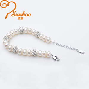Wholesale High Quality Custom Bead Bracelets Natural Pearl Crystal Bracelet
