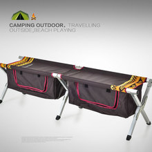 TianYe Outdoor Furniture Portable Metal Fabric Folding Bench Camping Chair