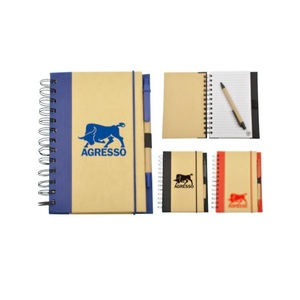 Eco friendly Custom Spiral School Notebook with ballpoint pen