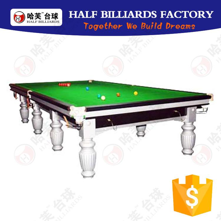 Half Billiards Pool Table 12ft Solid Wood Slate Wholesale