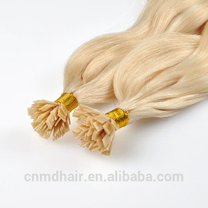 china factory flat tip hair body wave blonde color