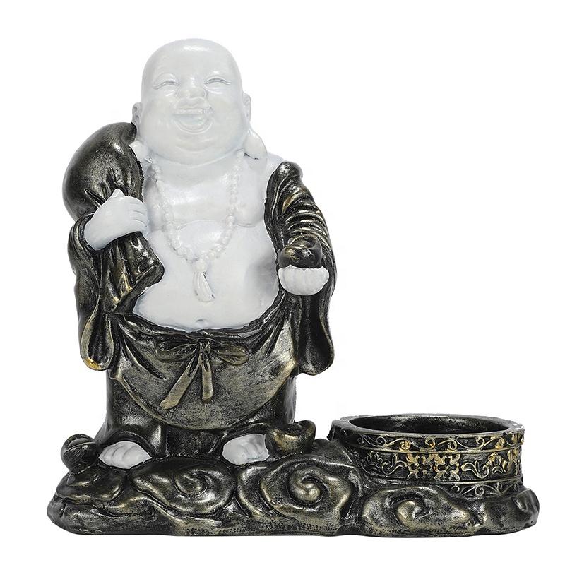 yiwu Candle Holder Buddha statue wholesale smiling Buddha Figurine