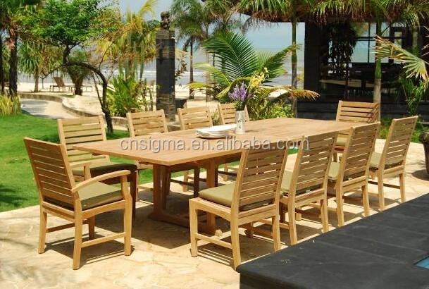 Gartenmöbel Outdoor Teakholz Speisesaal Langen Holz Tisch Und Stühlen.  Material Pflege
