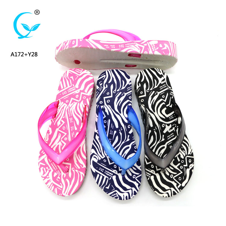 Decoration with aerosoft beach flip flop women beach sandals flowers