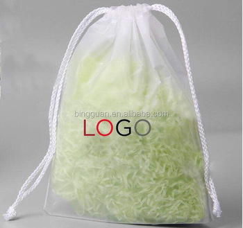 Heat Seal Waterproof Peva Pe Plastic Taobao Drawstring Bag