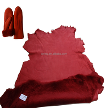 Wholesale garment gloves hat boots use real fur tanned sheared sheep skin merino double face finished leather