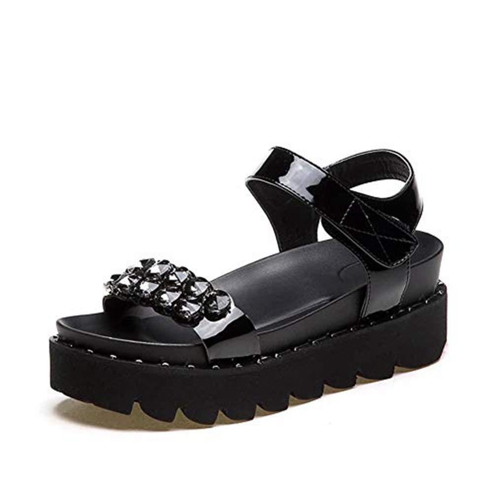 Alluing Toddler Baby Boys Roman Anti-Slip Shoes Soft Sole Beach Star Print Sneaker