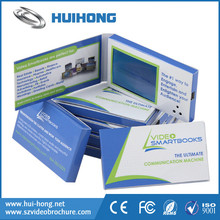 2.4 inch Plastic cover video business card size video brochure