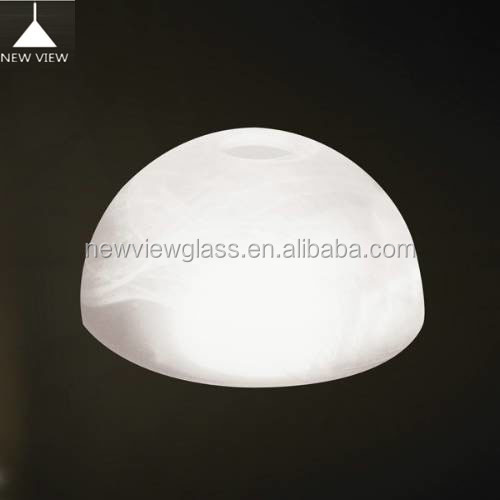 Hand blown white color lighting glass lamp shade & cover vintage Alabaster centrifugal glass lighting