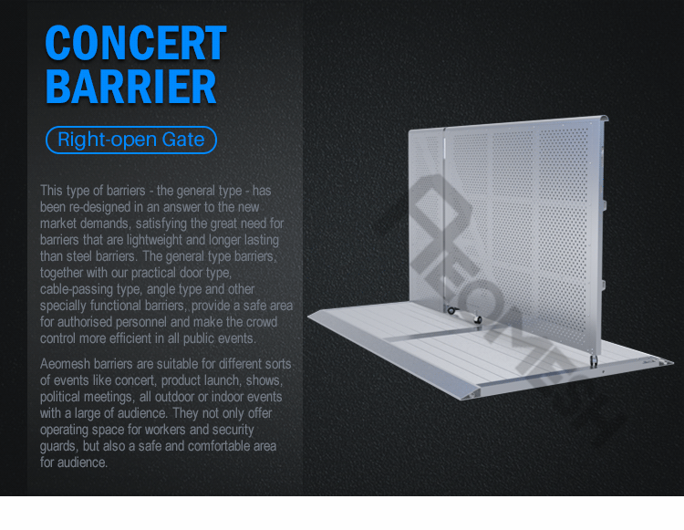 AEOBARRIER Right open Gate Concert Barrier