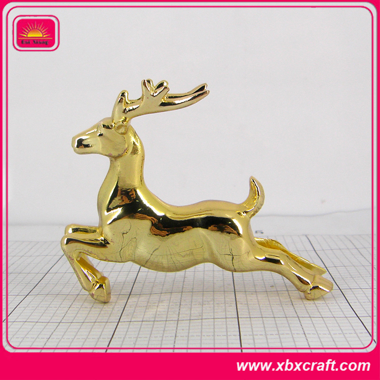 Custom small imitation gold deer statue figurine sculpture for sale