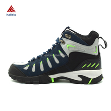 Waterproof Hiking Boots Uppers High Lace Up Men Outdoor Sport Shoes Waterproof Breathable Boots Climbing Shoes Uppers Hallelu