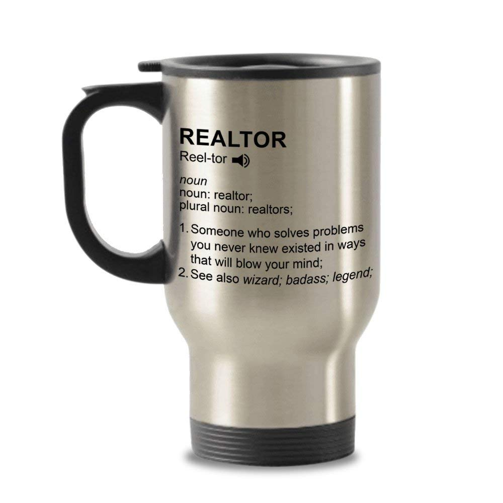 Get Quotations · Real Estate Agent Gifts - Realtor Travel Mug - Realtor Definition Gifts