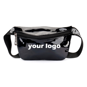 Fashion custom sequins waterproof hiking waist bag women running climbing belt fanny pack men leather waist bag for sport