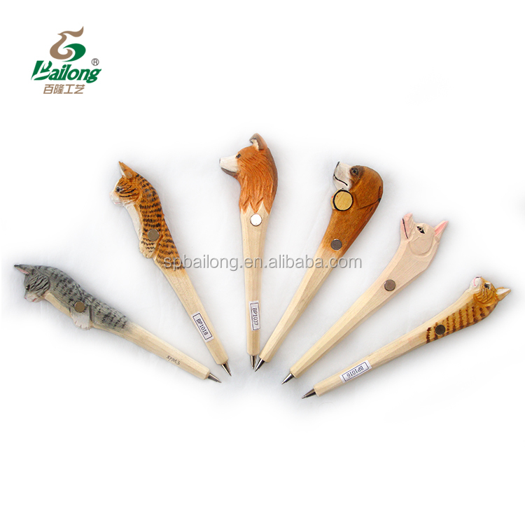 15 years  direct factory animal head souvenir hand carved craft wooden pen fridge magnet