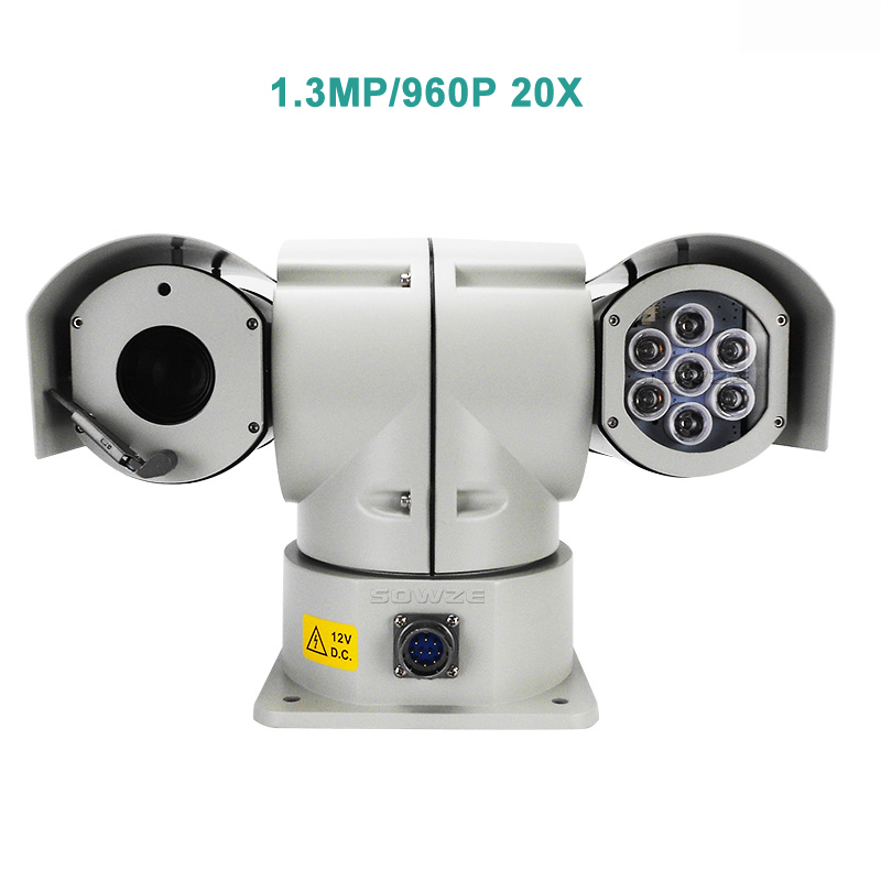 Heavy Duty Ruggedized Anti-shock Shock-proof AHD SDI IP 960P 1080P Long Range Laser Infrared Car Roof Mount PTZ Camera