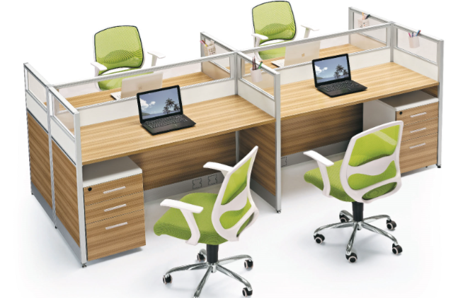 Wholesale Office Furniture S Shape New Design 4 Person Office Computer Workstation